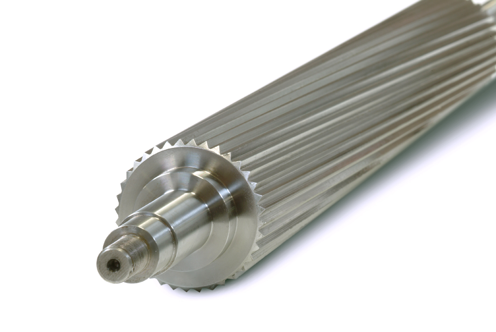 Spiral infeed rollers