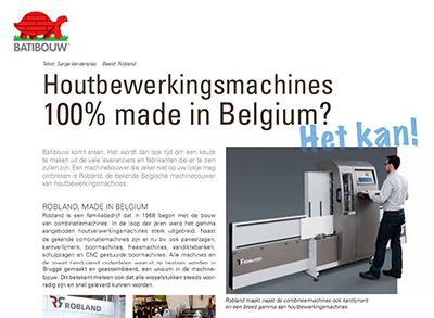 Houtbewerkingsmachines 100% Made in Belgium?
