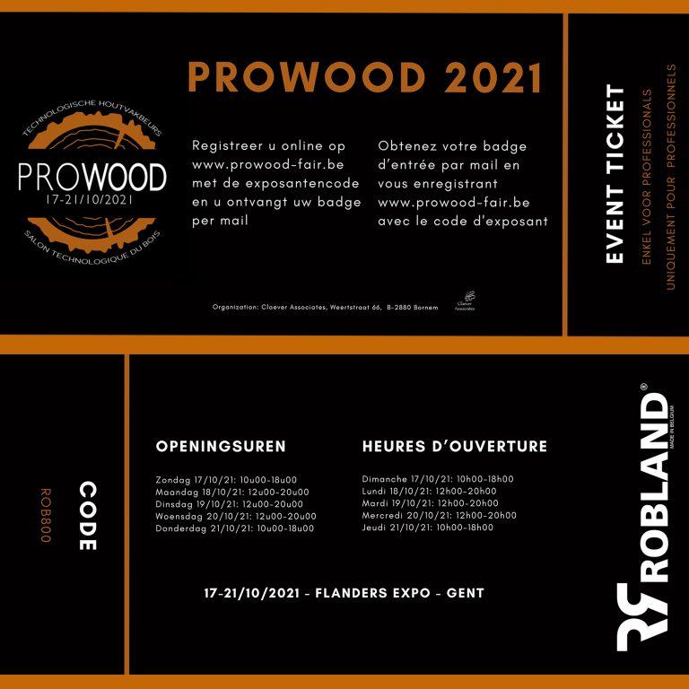 Participation foire: Prowood